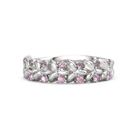 Sterling Silver Ring with Rhodolite Garnet and Pink Sapphire