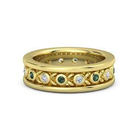 14K Yellow Gold Ring with Alexandrite and Diamond