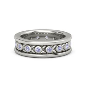 18K White Gold Ring with Tanzanite