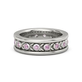 Palladium Ring with Pink Sapphire and Pink Tourmaline