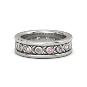 Platinum Ring with Rhodolite Garnet and Pink Sapphire