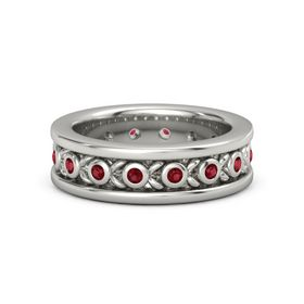 Men's Platinum Ring with Ruby