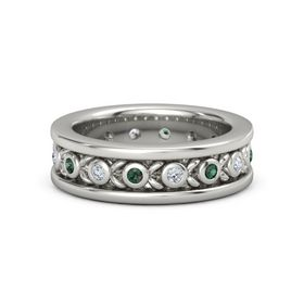 Men's Platinum Ring with Alexandrite & Diamond