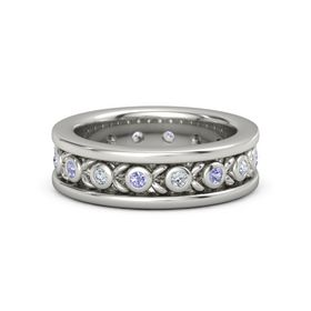 Men's Platinum Ring with Tanzanite & Diamond
