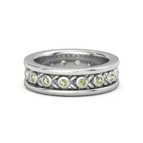 Men's Sterling Silver Ring with Peridot