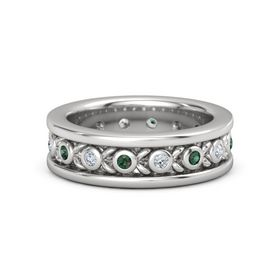 Men's Sterling Silver Ring with Alexandrite & Diamond