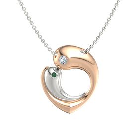 14K Rose Gold Pendant with Diamond and Alexandrite