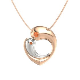 14K Rose Gold Necklace with Fire Opal