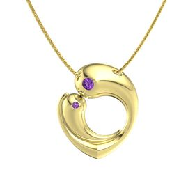 14K Yellow Gold Necklace with Amethyst