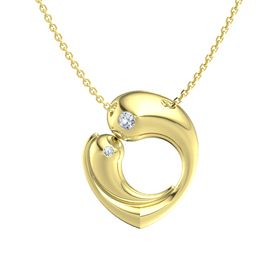 14K Yellow Gold Necklace with Diamond