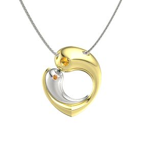 18K Yellow Gold Necklace with Citrine