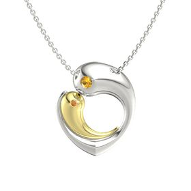 Platinum Pendant with Citrine