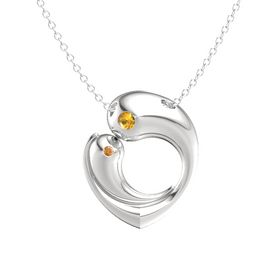 Sterling Silver Necklace with Citrine