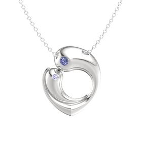 Sterling Silver Necklace with Tanzanite