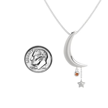 Moon and Star Pendant