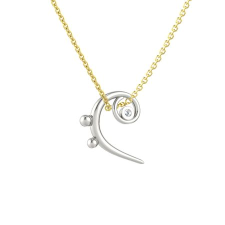 14k white gold pendant with diamond bass clef necklace gemvara bass clef necklace aloadofball Choice Image