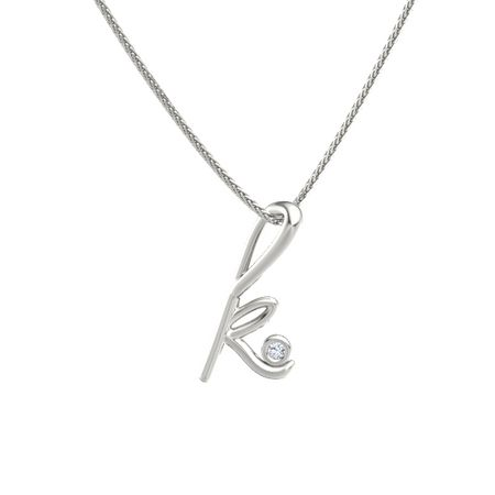 14k white gold necklace with diamond love letters k pendant with love letters aloadofball Choice Image