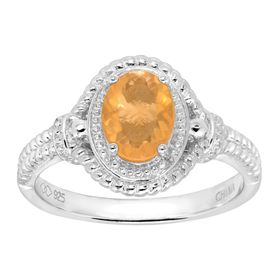 7/8 ct Fire Opal Cable Ring