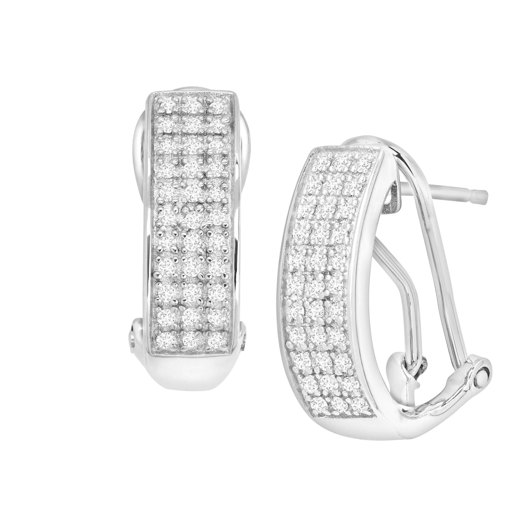 1 4 Ct Diamond French Clip Earrings