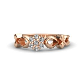 14K Rose Gold Ring with Rock Crystal