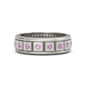 Platinum Ring with Pink Tourmaline
