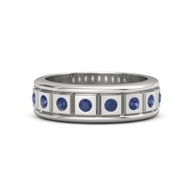 Men's Sterling Silver Ring with Sapphire