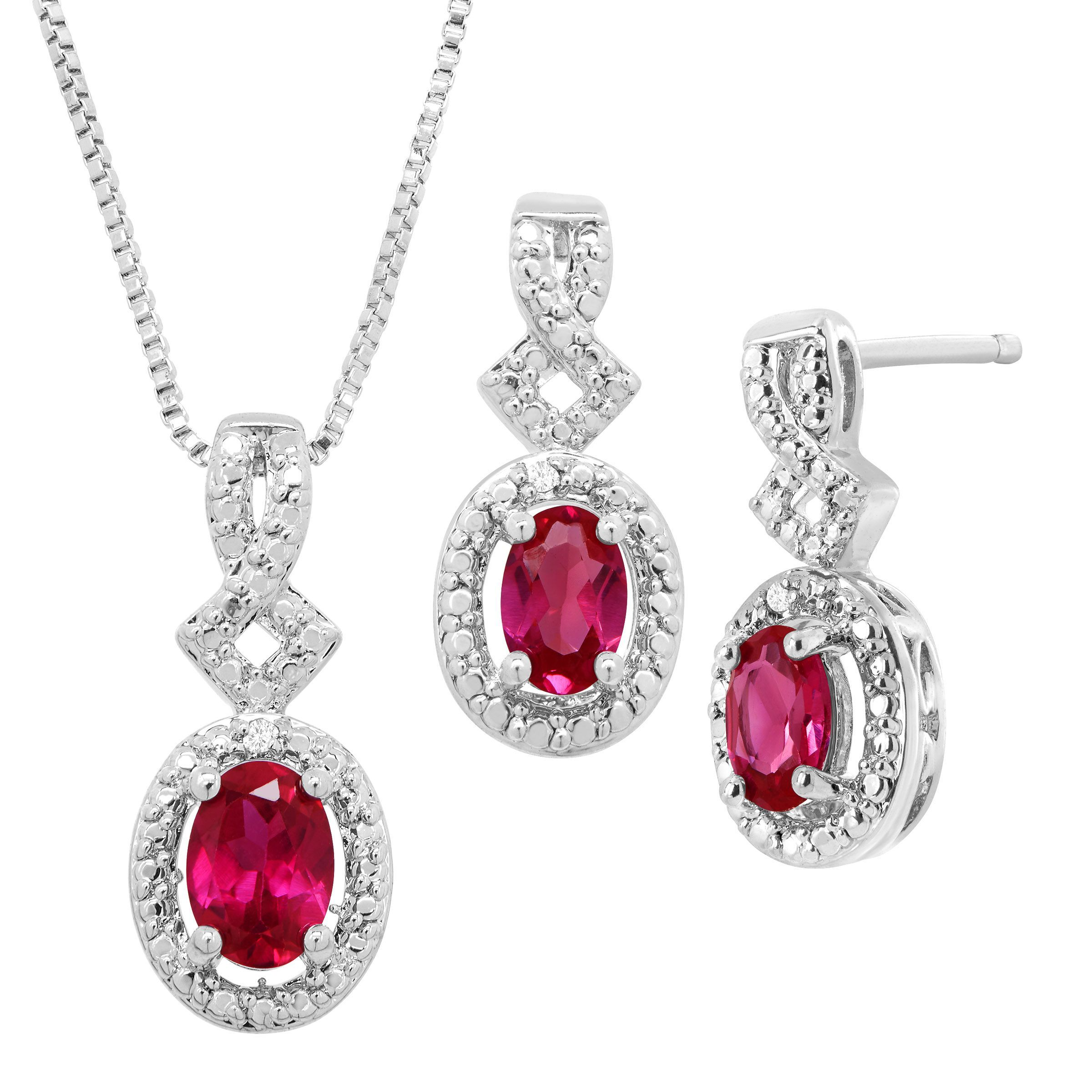 jewellery shop ruby complete set yaghoot jewelry