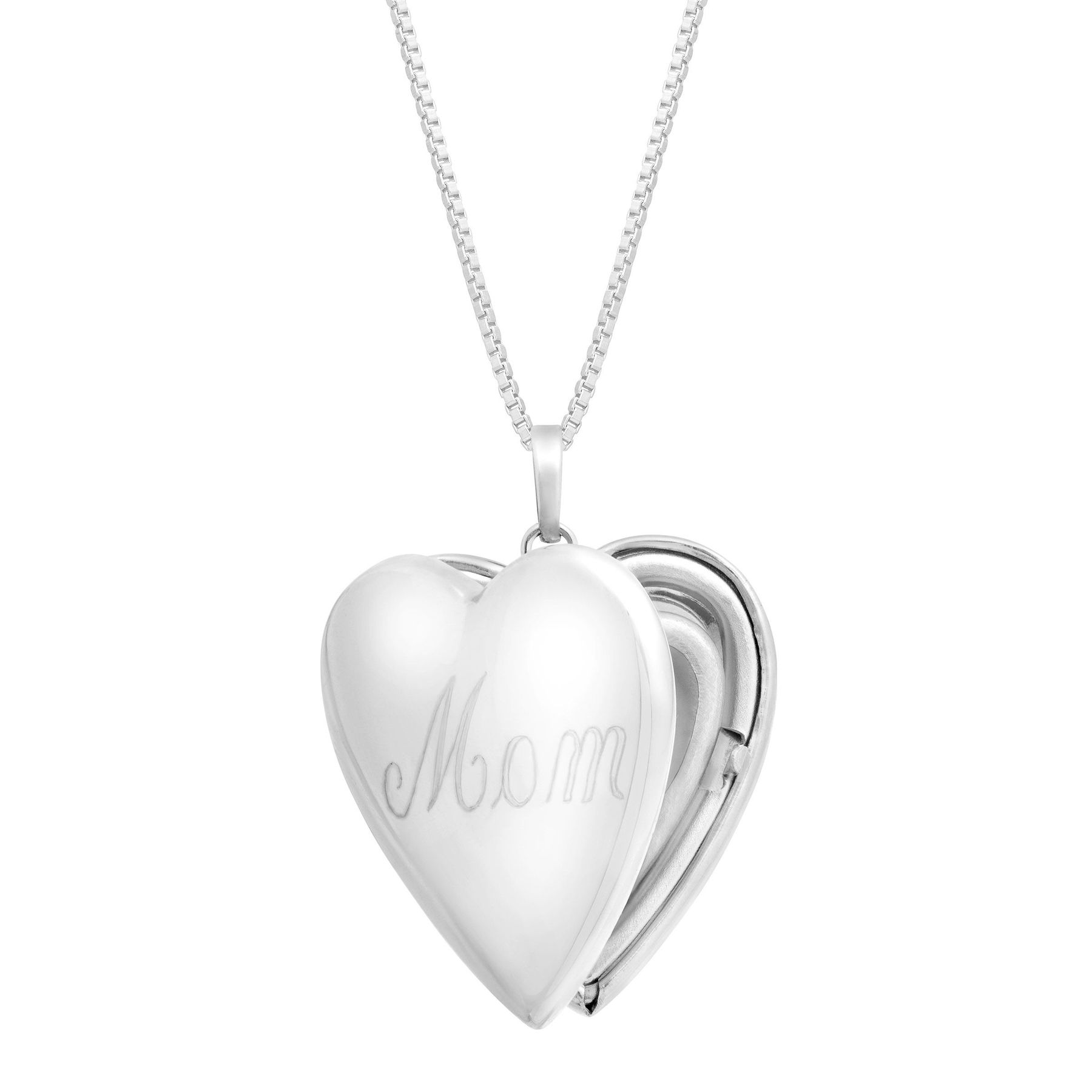 sterling lockets necklace name silver heart limoges jewelry birthstone