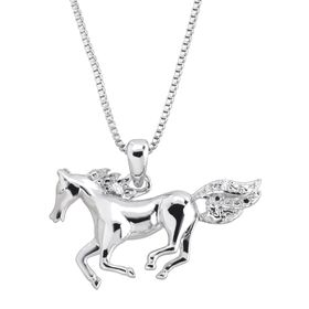 Horse Pendant with Diamond