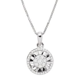 1/5 ct Diamond Halo Pendant