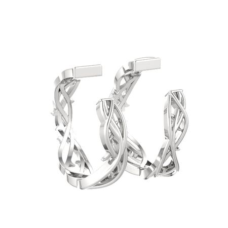 Vine Hoop Earrings
