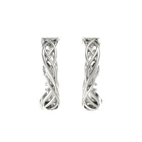 14K White Gold Earring