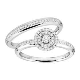 1/3 ct Diamond Bridal Ring Set