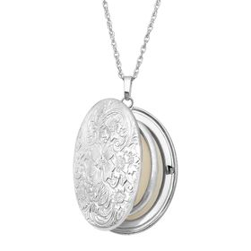 Floral Locket Pendant with Diamond