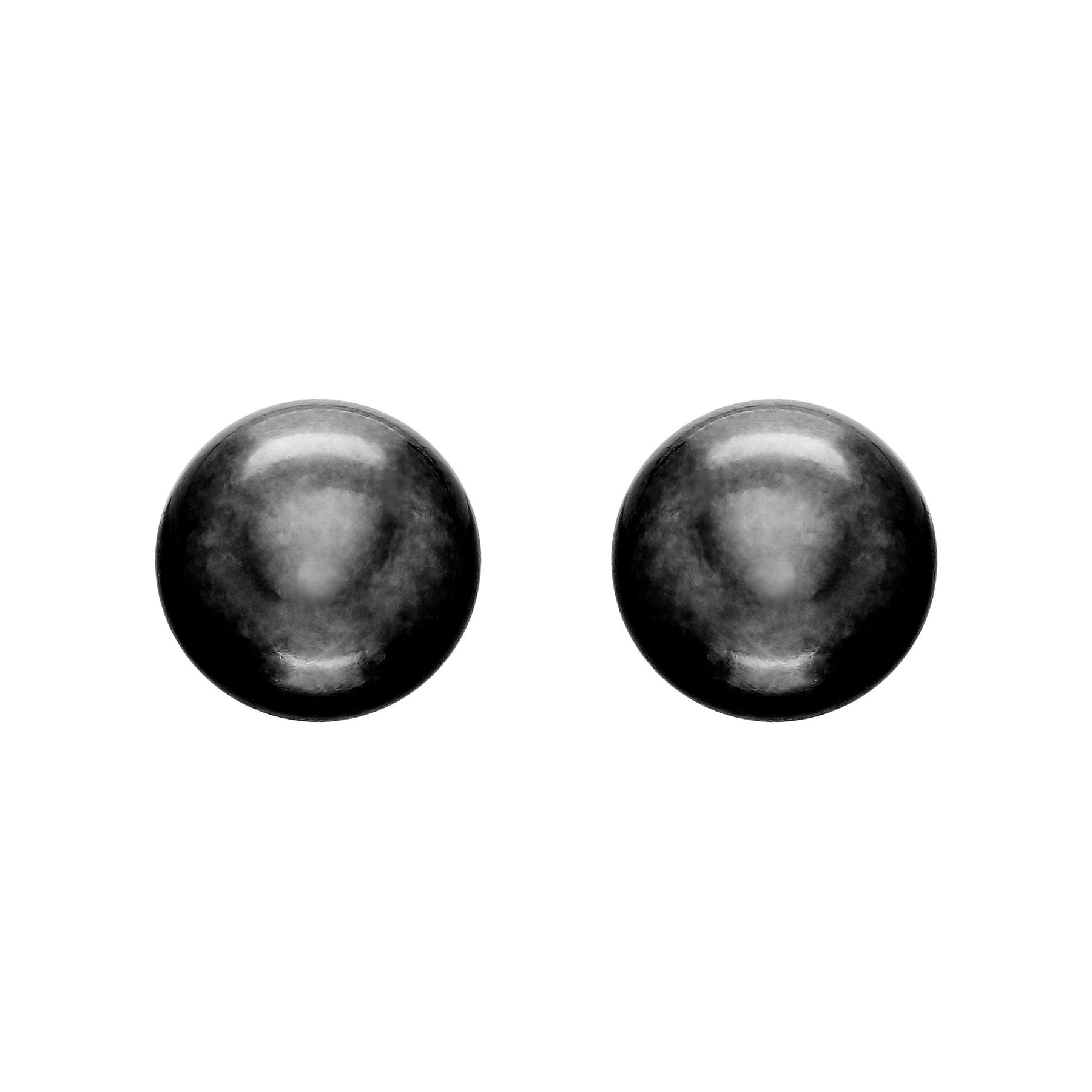 9 10 Mm Black Pearl Stud Earrings