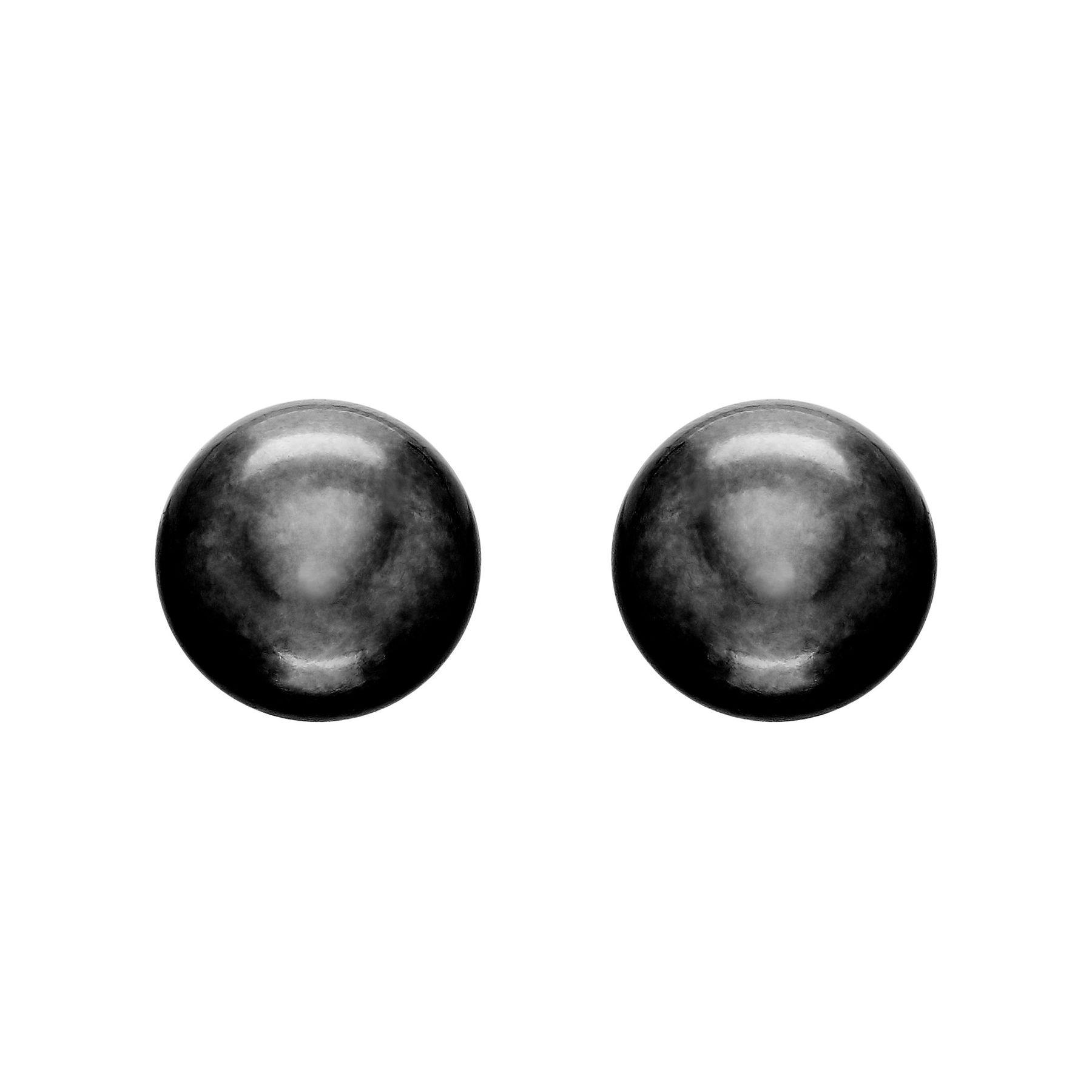 9 10 Mm Black Pearl Stud Earrings