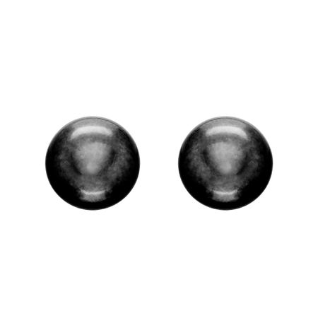 9-10 mm Black Pearl Stud Earrings
