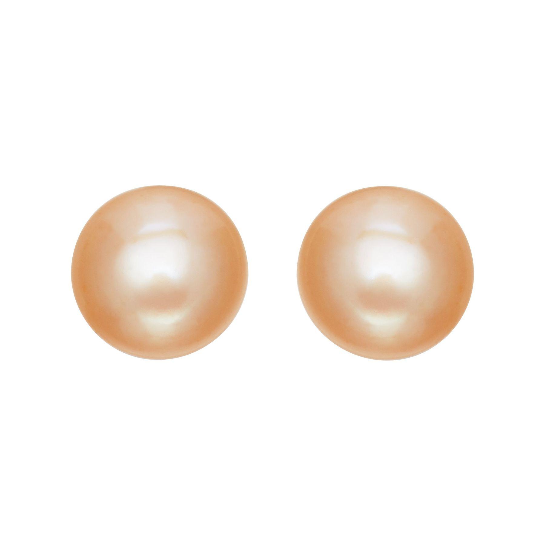 9 10 Mm Peach Pearl Stud Earrings