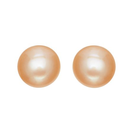 9 10 Mm Peach Pearl Stud Earrings