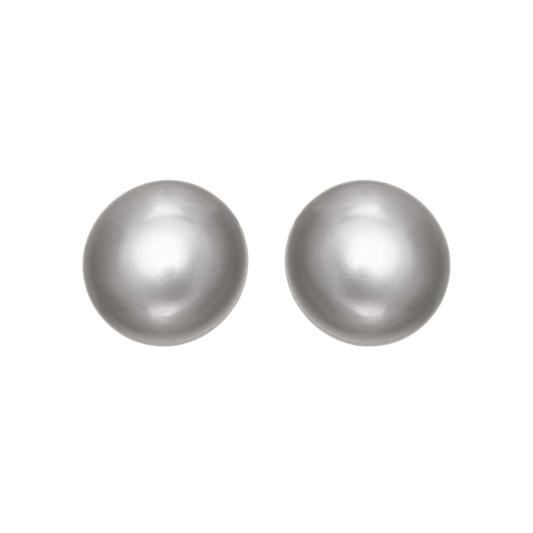 9 10 Mm Grey Pearl Stud Earrings