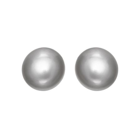 9-10 mm Grey Pearl Stud Earrings