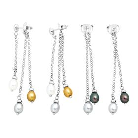 5-6 mm Pearl Drop Earrings with Interchangeable Backs