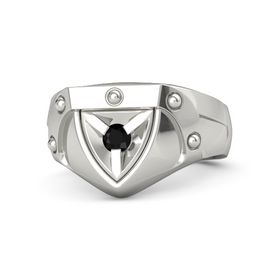 Men's 14K White Gold Ring with Black Onyx