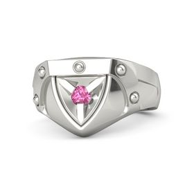 14K White Gold Ring with Pink Tourmaline