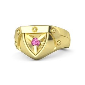 Men's 14K Yellow Gold Ring with Pink Tourmaline