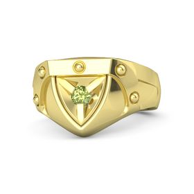 Men's 18K Yellow Gold Ring with Peridot