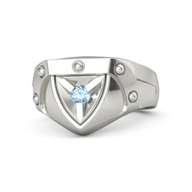 Platinum Ring with Blue Topaz