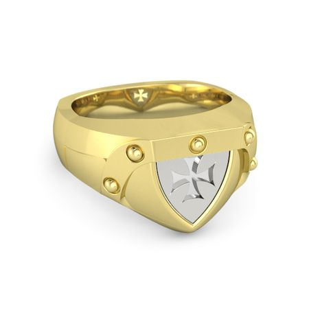s 14k yellow gold ring brotherhood of the cross ring