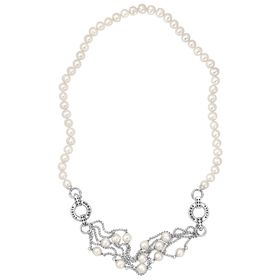 8-9 mm Ringed Pearl Convertible Necklace & Bracelet