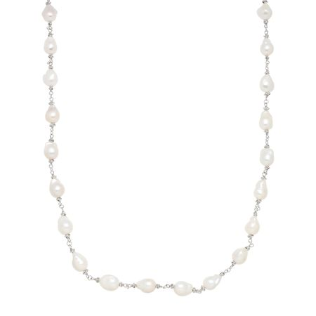 11-12mm Baroque Pearl Knot Necklace